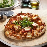 Bbq Chicken Bocconcini And Sweet Pepper Pizza