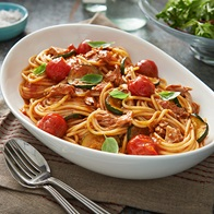 Cherry Tomato And Tuna Pasta