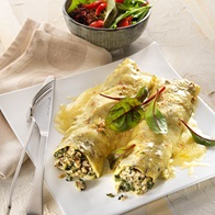 Chicken And Pesto Canneloni