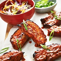 Glazed Pork Spare Ribs