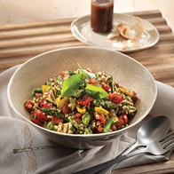 Grilled Italian Vegetable  Farro Salad