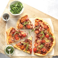 Meat And Roquette Pizza