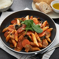 Penne With Seasoned Sausages