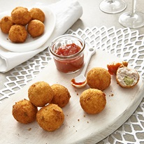 Pesto Chicken Kiev Balls