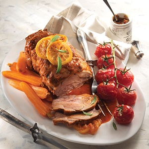 Pot Roasted Pork With Tomato Lemon  Sage