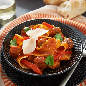 Red Wine Meatball Parpadelle