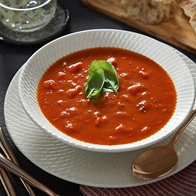 Roasted Capsicum And Tomato Soup