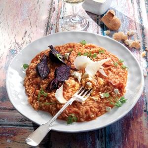 Tomato Risotto With Roasted Beetroot  Fetta