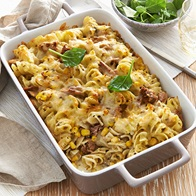 Tuna And Corn Pasta Bake